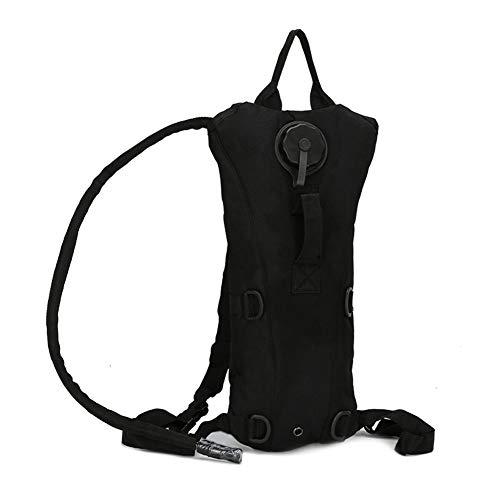 Man9Han1Qxi Verstellbare Schultergurte 3L Military Camo Outdoor Fahrrad Radfahren Tasche Wasser Blase Rucksack Black
