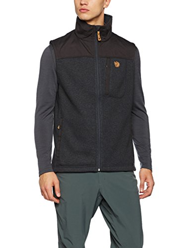 Fjällräven Herren Buck Fleece Weste, Graphite, XL