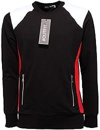 best sneakers 87f6d 4aa61 Amazon.it: FELPA NERA CON CAPPUCCIO - Outfit / Uomo ...