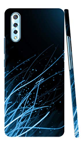 ADI CREATIONS Designer Back Case & Cover for Vivo S1 & Z1X Blue Roots with Dark Blue