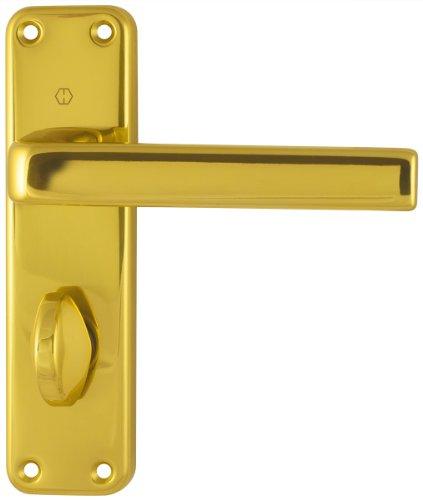 Hoppe Dubayy 1107/267 87142434 - Manilla para puerta con cerrojo