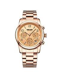 Megir Relojes de Pulsera de Cuarzo de Lujo para Mujer Reloj Deportivo para Mujer Amantes del
