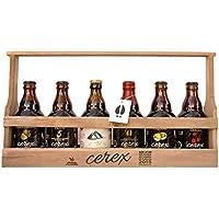 CEREX – Pack Degustación 6 Cervezas Artesanas Españolas - Caja Regalo Presentación Madera – Cerveza de Cereza,.