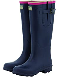c99f5c43771f Town   Country Ladies Women s Wellies Adjustable Buckle Flat Festival  Wellies Rain Boots Wellingtons Sizes