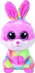 Idea Regalo - Ty Lollipop, coniglietto di peluche Beanie Boo's, di colore rosa e variopinto, 15cm, con occhi brillanti, edizione pasquale, 36872