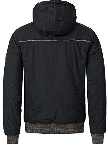 Sublevel Herren Winterjacke Parka Steppjacke Baumwoll Winter Jacke Kapuze 44334A S M L XL - 3