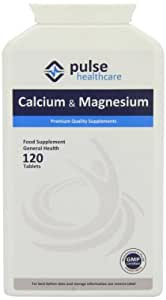 Pulse Healthcare 400mg Calcium/ 200mg Magnesium Premium Quality GMP Supplement - Pack of 120 Tablets
