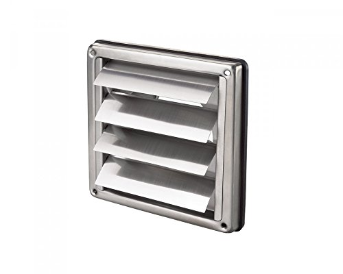 Stainless Steel Square Air Vent Grill 100 mm 4 - Extractor - Wall Vent Gravity by Various (Air-vent-rohr)