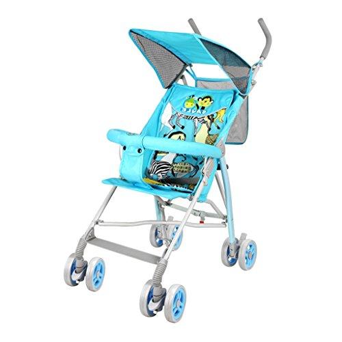 Qiangzi Baby Wagen Kind Baby-Buggy-Wagen leichten Schock Klappkinderwagen kann das Netz Subnotebook nehmen Faltbarer Baby Kinderwagen für Kinder ( Farbe : 1 )