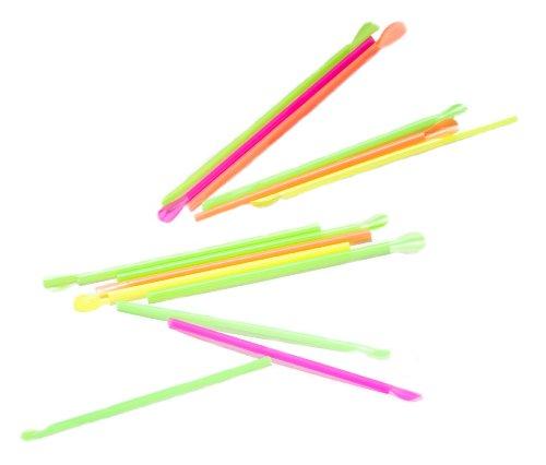 Perfekt Stix zugeständnis Löffel Stroh, Kunststoff verpackt, verschiedene Farben, 20,3cm Länge (5000Stück)