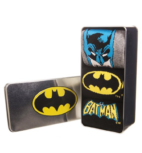 Packung Mit 3 Dc Comics Batman Socken In Tin