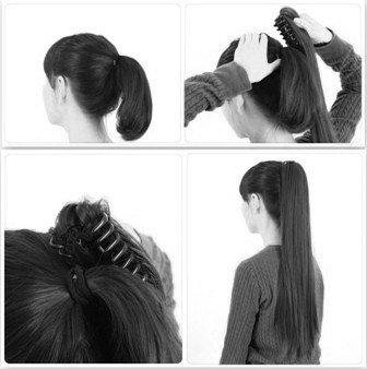 Haarteile: PRETTYSHOP Voluminöses Haarteil Hair Piece Pferdeschwanz Zopf Ponytail