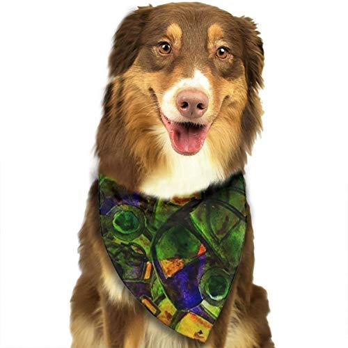 RAHJK Hunde Bandana,Weihnachts Kragen Schal Lätzchen, Dreieckstuch Halsbänder Haustier für Kleine, Mittelgroße Große Hunde Katzen Custume Aquarell abstrakt -