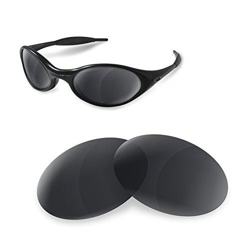 sunglasses restorer Kompatibel Ersatzgläser für Oakley Eye Jacket 1.0, Polarisierte Black Iridium