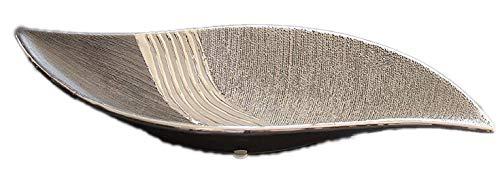 1 x Schale Bridgetown S-Form Keramik silber/grau Breite 40 cm, Tischdeko, Aufbewahrung, Deko Haus, Snacks