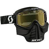 Scott 83X Safari Cross MTB/Paint Ball Goggle con Face Maschera Occhiali Nero/Giallo