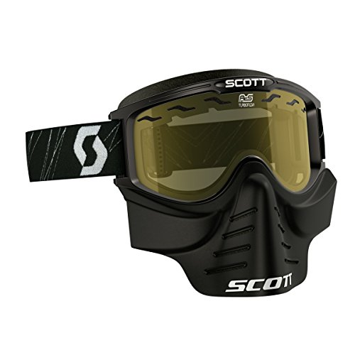 Scott 83X Safari Cross MTB/Paintball Goggle inkl. Facemaske Brille schwarz/gelb