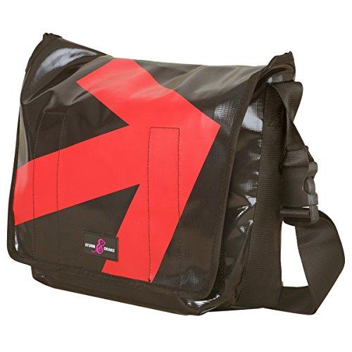 Messenger Bag Large LKW-Planen Taschen Sturm & Drang (Bag Kunststoff Schwarz Messenger)