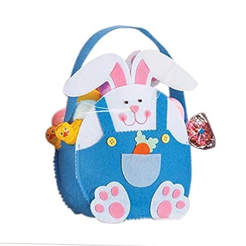 KEERADS Jour de Pâques Lapin mignon bonbons cadeau enfants Sac