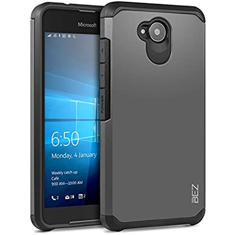 Coque Microsoft Lumia 650, Housse Etui Antichoc Survivor Double Protection pour Microsoft Lumia 650 Resistante - Argent