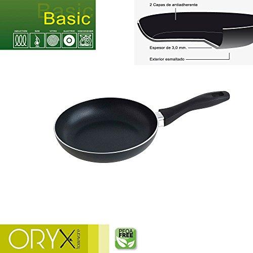 ORYX 5023210Pfanne Aluminium Antihaftbeschichtung Basic 20cm/3mm, schwarz, 37x 21x 6cm