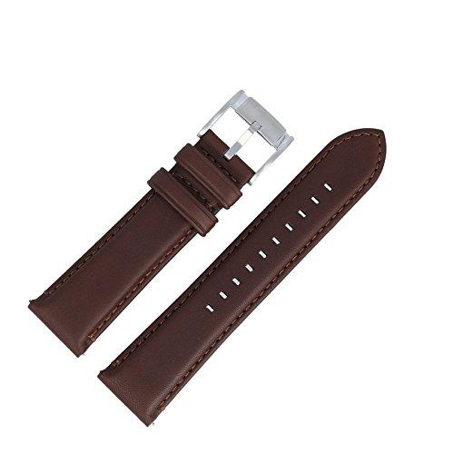 Fossil Uhrenarmband 22mm Leder Braun - Uhrband FS-4813 (Orange Uhr Fossil Herren)