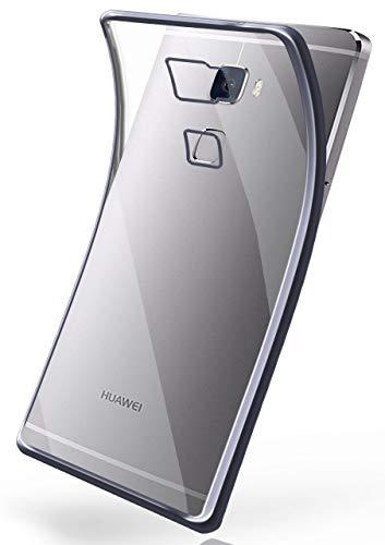 moex Huawei Mate S | Hülle Silikon Transparent Anthrazit Chrom Back-Cover Silikonhülle Dünn Schutzhülle Handyhülle für Huawei Mate S Case Ultra-Slim Tasche TPU