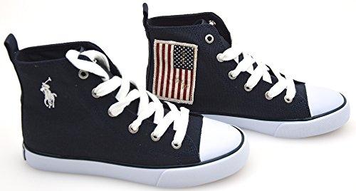 Polo Ralph Lauren Kind MÄDCHEN Turnschuhe Freizeitschuhe Sneaker BLAU ODER WEIß 31 EU - 13,5 USA - 13 UK BLU Navy (Polo Ralph Lauren Sneaker Kinder)