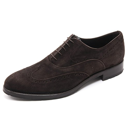 B5785 scarpa inglese uomo ALTIERI MILANO scarpe marrone scuro shoe man Marrone scuro