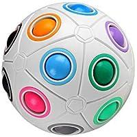 digitCUBE Magic Ball XL Spielzeug 2019 Fidget Regenbogen Puzzle Zauberball für Konzentration Geschenk für Kinder Geburtstag