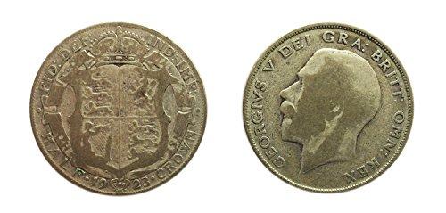 munzen-fur-sammler-zirkuliert-britischen-1923-50-prozent-silber-half-crown-coin-grossbritannien