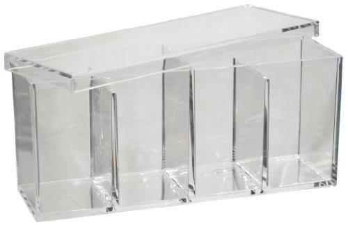 Fantasia Boîte de rangement compartimentée vide en acrylique 22 x 7 x 10 cm