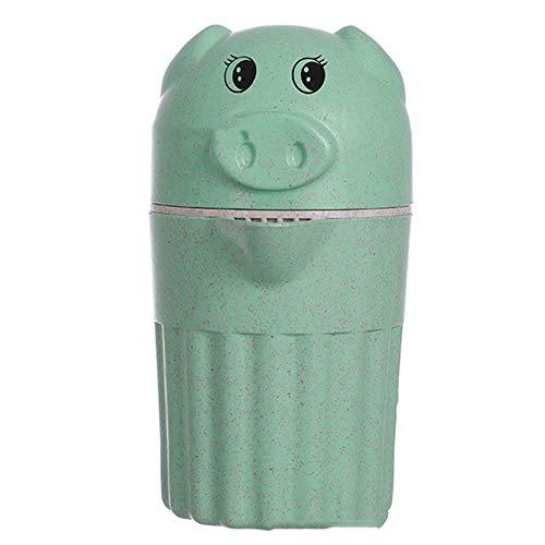 DEAR-JY Saft Tasse Schwein Schwein manuelle Entsafter Obst kleinen Haushalt Mini tragbare Saft Tasse frischen Saft Maschine leicht zu reinigen,Green