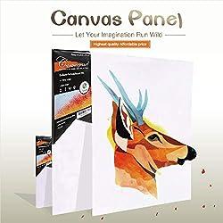 Conda - Paneles de lienzo (20,3 x 25,4 cm), blanco, 8 x 10 inch