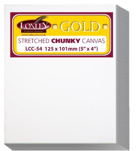 Loxley Gold LCC-54 - Lienzo preestirado, color blanco