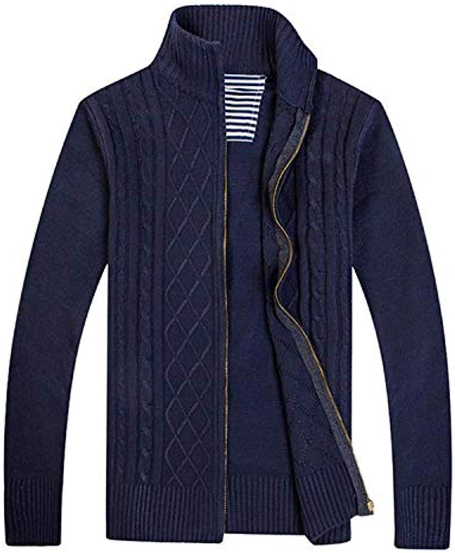 Betrossohales Maglione Cardigan Uomo Pullover Zip Cardigan Fit Zip Pullover  Maglioni Slim Leis a36c81 4f3b2851308