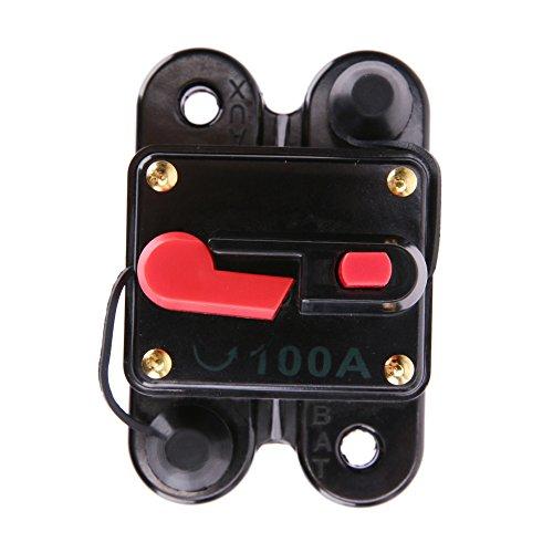 vanpower 100A 12V Square Auto Audio Inline Circuit Breaker Sicherung für System Schutz - Cake Breaker