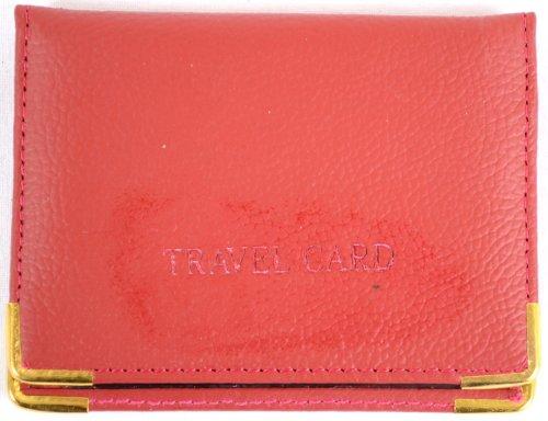 Leder Reise-Kreditkartenetui (dunkelbraun, lila, rot, hellbraun, beige) Rot rot