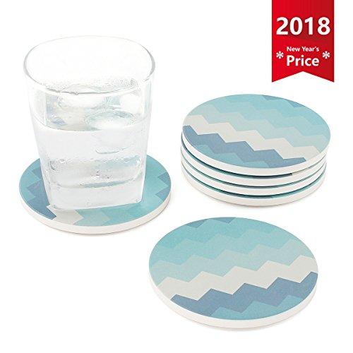 Marmor-glas-schüssel (Sweese Untersetzer Keramik - Satz von 6, Absorbierenden Untersetzer , Bestehend aus Hochtemperatur Verstärktem Porzellan und Kork , Glasuntersetzer für Glas, Tassen und so weiter)