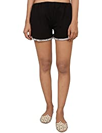 9teenAGAIN Women's Hosiery Solid Short(Black & Grey)