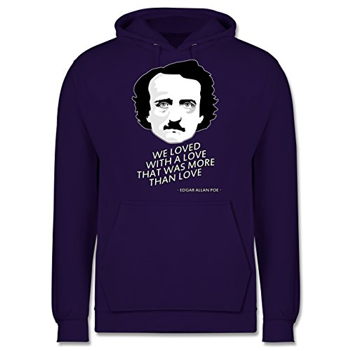Statement Shirts - Edgar Allan Poe - We loved with a love that was more than love - Männer Premium Kapuzenpullover / Hoodie Lila