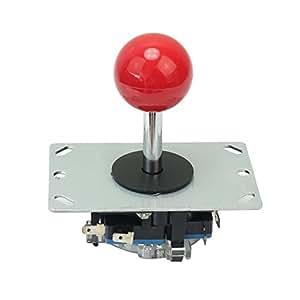 fitTek Remplacement Joystick Manette Jeux Vidéo Accessories pour Arcade Rouge