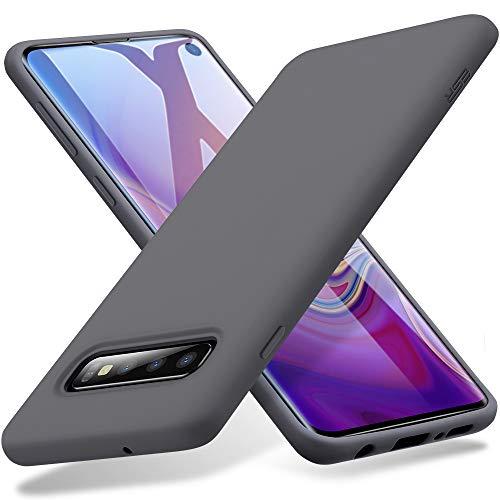 ESR Cover Morbida Serie Yippee Touch per Samsung Galaxy S10, Custodia in Silicone Liquido con [Presa Eccellente] [Protezione Anticaduta] [Resistenza ai Graffi] per Samsung Galaxy S10 (6,1'), Grigio