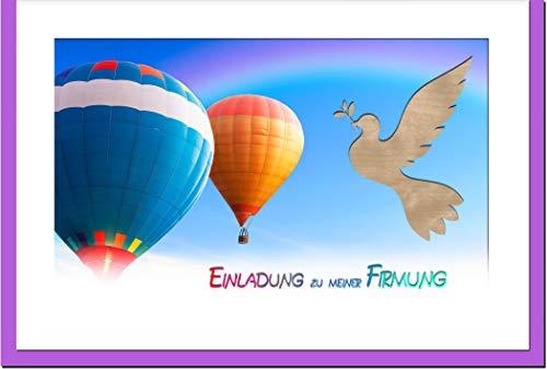 metALUm Einladungskarten FIRMUNG   Heissluftballons   100 Karten   1810017