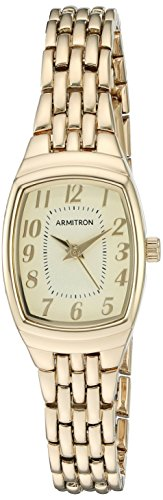 Armitron Women's 75/5375CHGP Easy to Read Gold-Tone Bracelet Watch