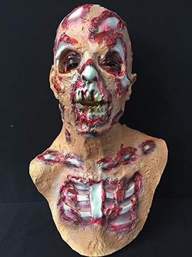 Unheimlich Kostüm Zombie Clown - JNKDSGF HorrormaskeHalloween Erwachsenen Maske Zombie Maske Latex Blutig Unheimlich Extrem Ekelhaft Vollgesichtsmaske Kostüm Party Cosplay Prop