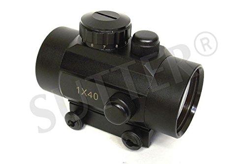 SUTTER Leuchtpunktvisier 1x40 WA - Red Dot Visier Reflexvisier Rotpunkt RedDot Zielvisier Zielfernrohr Zielgerät