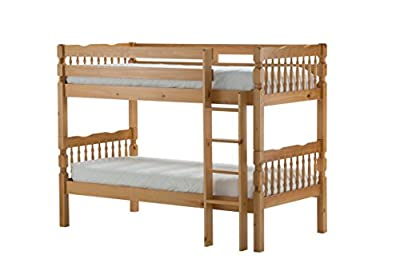 Birlea Weston 3ft Single Wooden Bunk Bed, Solid Pine - low-cost UK Bunkbed store.