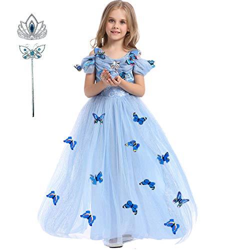 LiUiMiY Prinzessin Kleid Kinderkleidung Mädchen Kleid Performance Kleidung Kostüm Verkleidung Weihnachten Partei Geschenk für 3-9Jahre