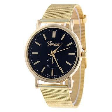 Schöne Uhren, NAVIFORCE Damen Armbanduhr Quartz Gold Armbanduhren für den Alltag Analog damas Freizeit Modisch Kleideruhr - Braun Rot Grün Ein Jahr Batterielebensdauer ( Farbe : Schwarz )
